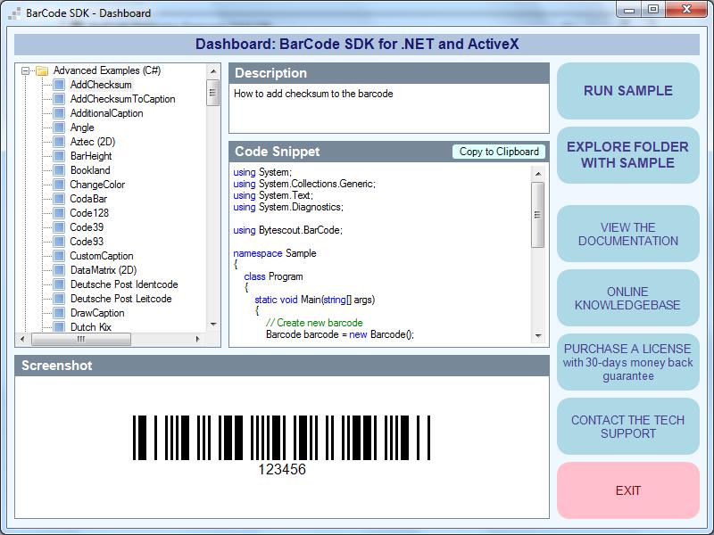 ByteScout BarCode Generator SDK for  NET - Visual Studio Marketplace