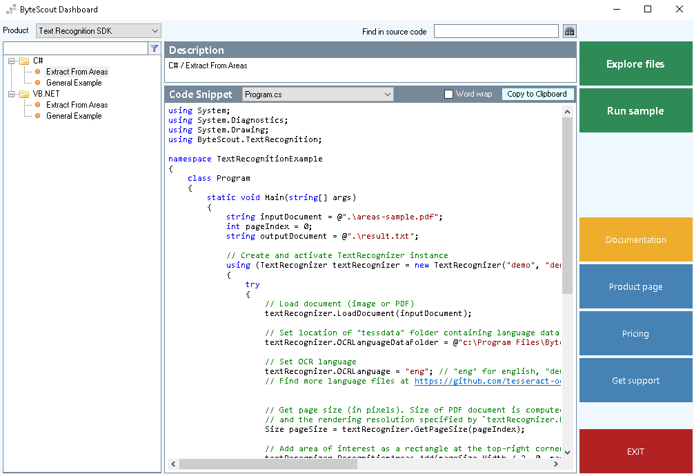 ByteScout Text Recognition SDK - Visual Studio Marketplace